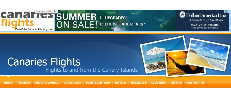 Canaries Flights - Flights to and from the Canary Islands